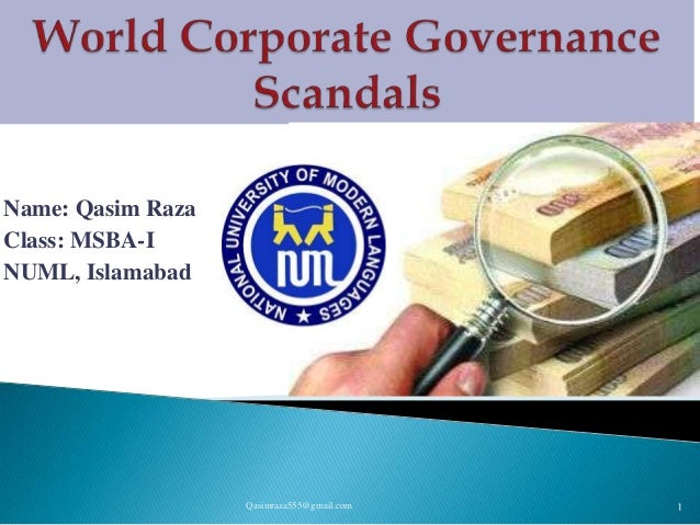 Corporate Governance Scandals