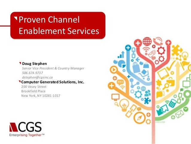 Cgs channel enablement services  nn bm