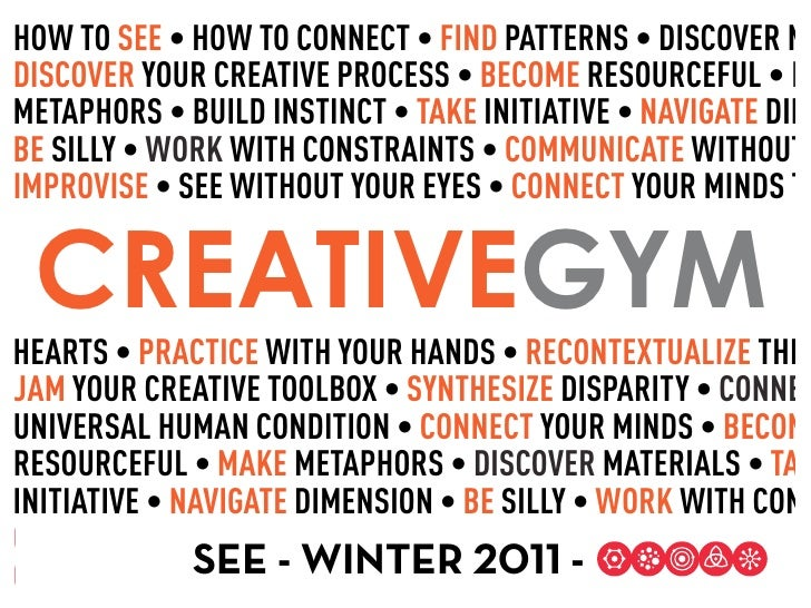 HOW TO SEEBE CREATIVEGYM                               R                                   TA                          BE ...