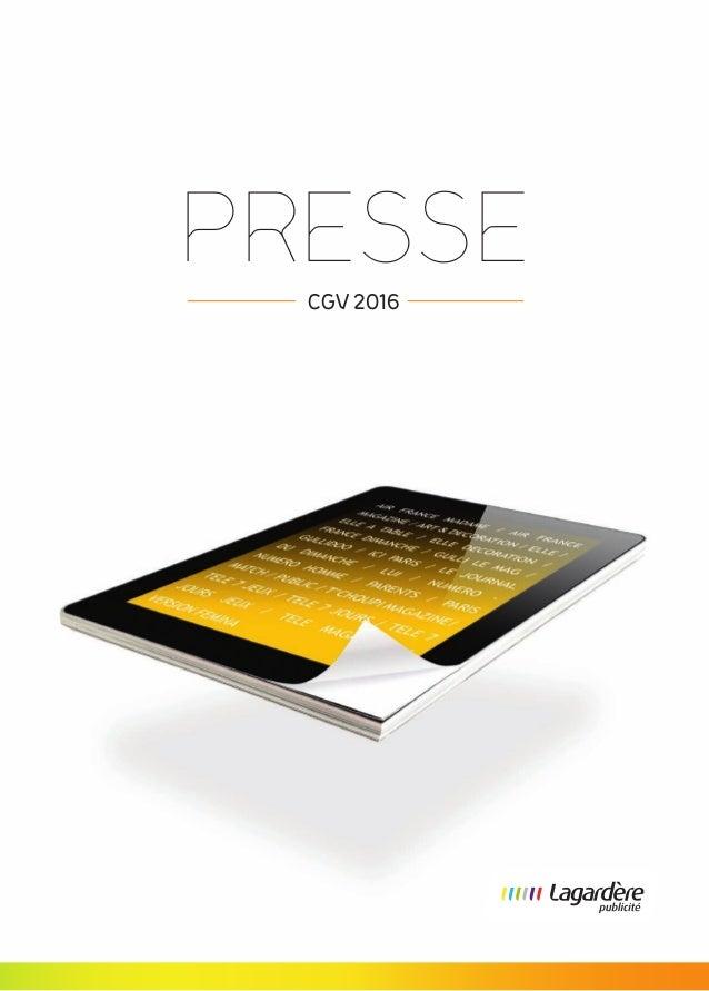PRESSE CGV 2016