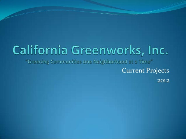 Current Projects            2012