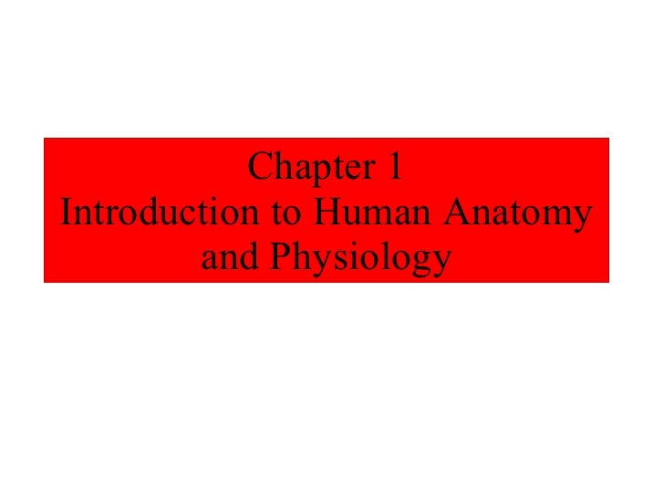 Ch. 01 Intro to A & P