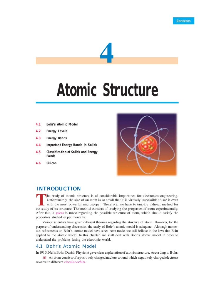 48         Principles of Electronics                                              4                 Atomic Structure4.1   ...