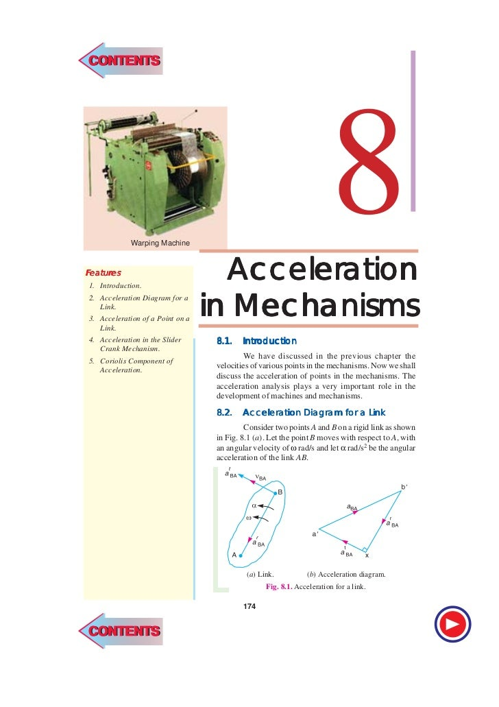 CONTENTSCONTENTS174   l    Theory of MachinesFeatures eatur   tures             Warping Machine1. Introduction.           ...