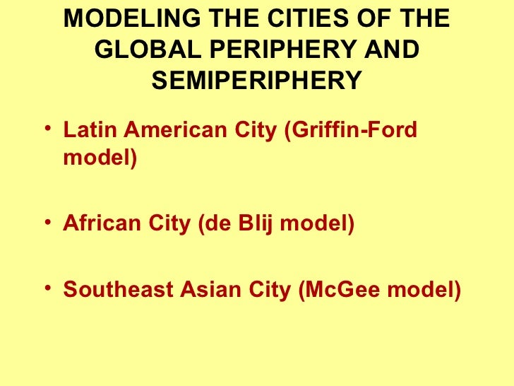 Southeast Asian Cities Asian City Mcgee Model