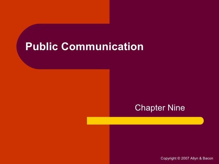 Public Communication Chapter Nine