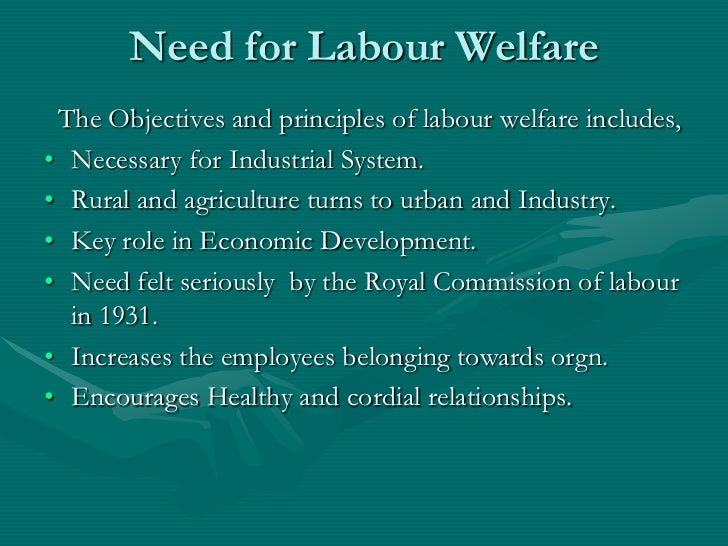 principle on employee welfare
