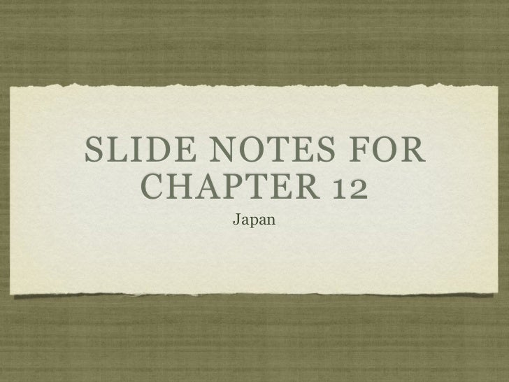 Ch. 12 slide notes
