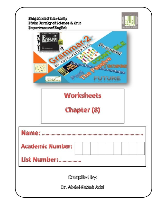 Worksheet: Azar: Fundamentals of English Grammar, Chart 8-1, 8-2  Chapter (8) Connecting Ideas Page 2 of 3  Name _________...