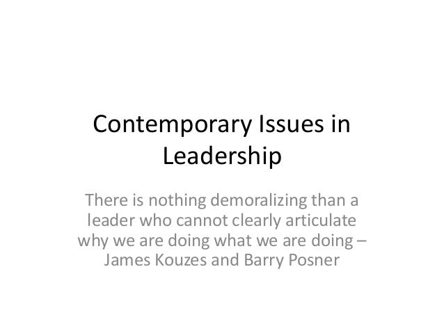 contemporary issues in leadership (Chapter No. 13 )