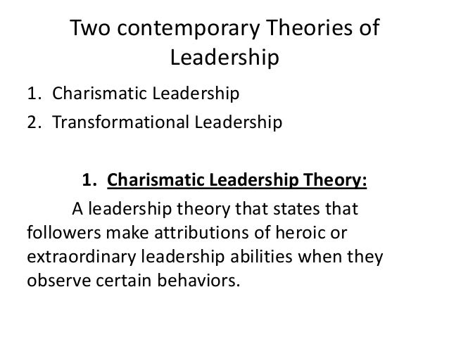 contemporary leadership style do you have