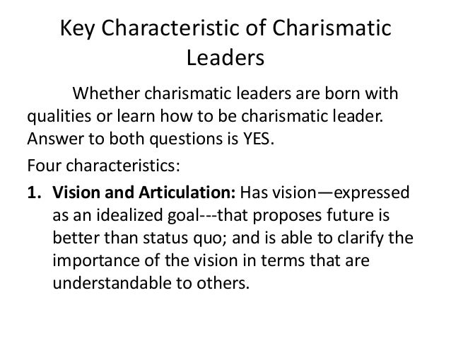 charismatic leadership qualities