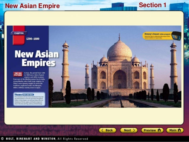 Section 1New Asian Empire