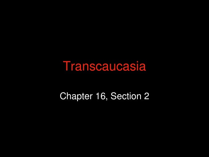 TranscaucasiaChapter 16, Section 2