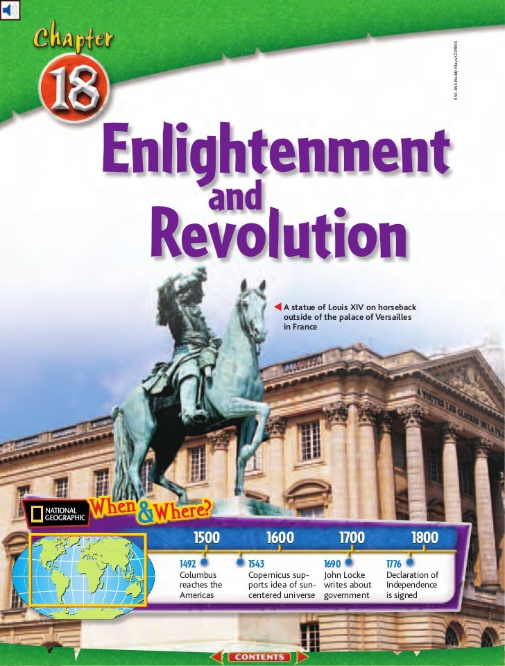 654–655 Buddy Mays/CORBISEnlightenment     and  Revolution                         A statue of Louis XIV on horseback     ...
