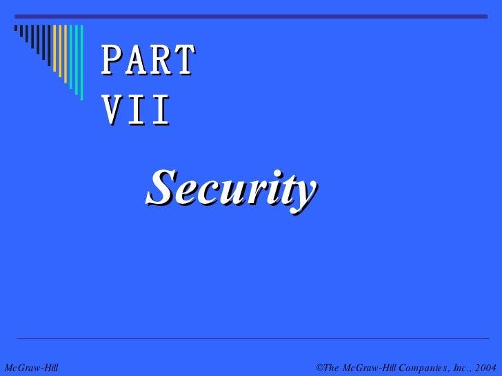 Security PART VII