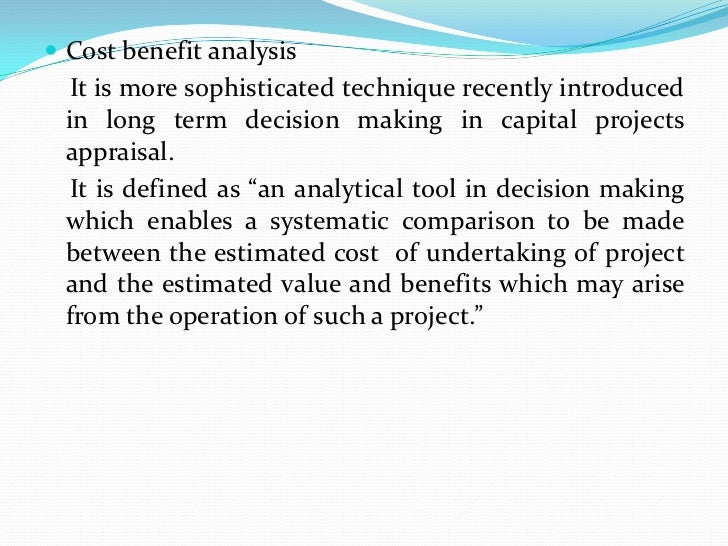 undertake a cost benefit analysis for your Simple introduction to cost-benefit analysis (prepared for sprep pacc cost-benefit analysis workshop: food security pilot.