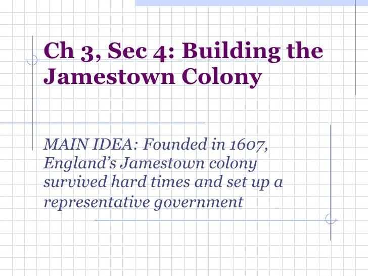 Ch 3, Sec 4 Jamestown