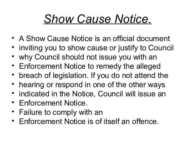 what is show cause notice