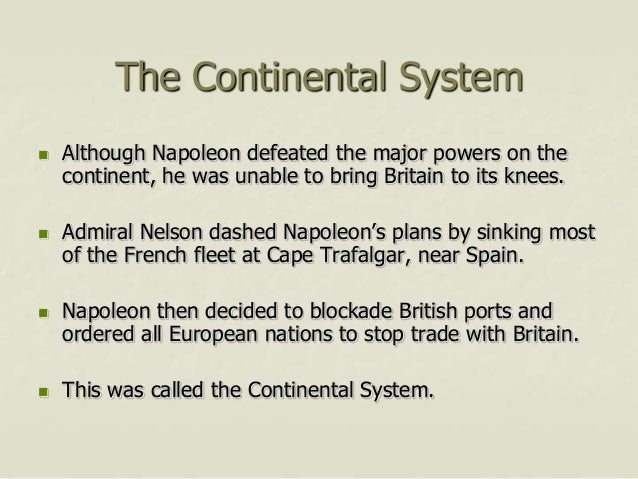 napoleon and the continental system after