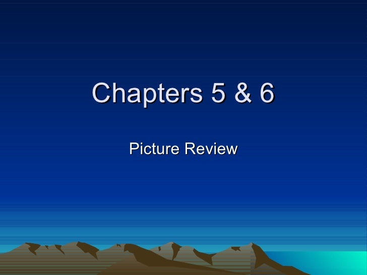 Chapters 5 & 6 Picture Review
