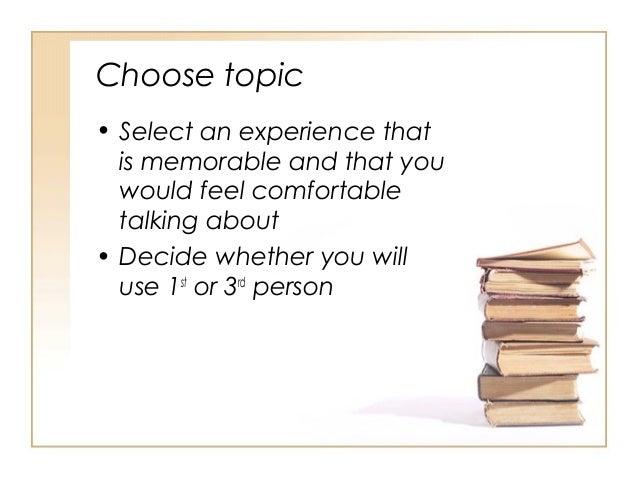 Example Essay Memorable Experience Free Essays