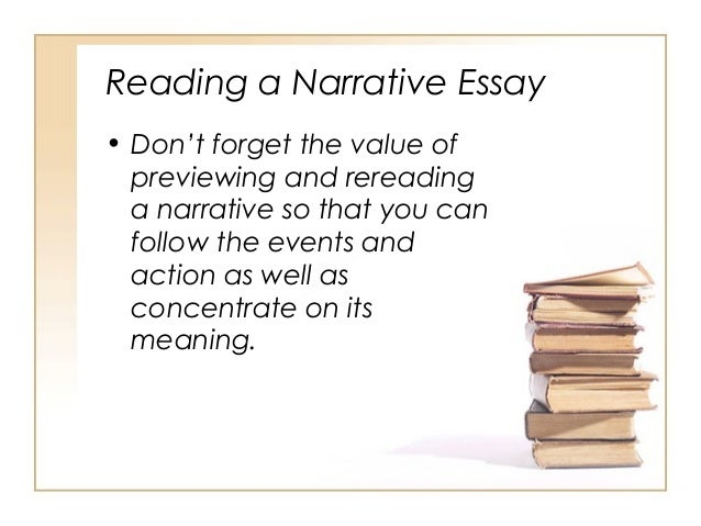a written narrative essay A narrative or story is a report of of the classics in the humanities and social sciences are written in the narrative narrative discourse an essay in.