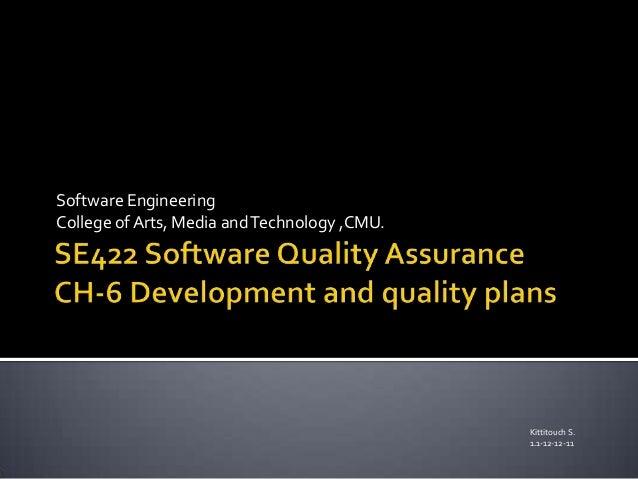 Ch 6 development plan and quality plan