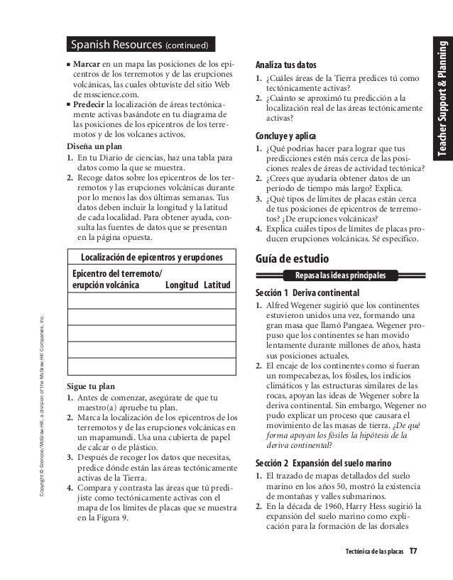Glencoe mcgraw hill worksheet answers for earth science