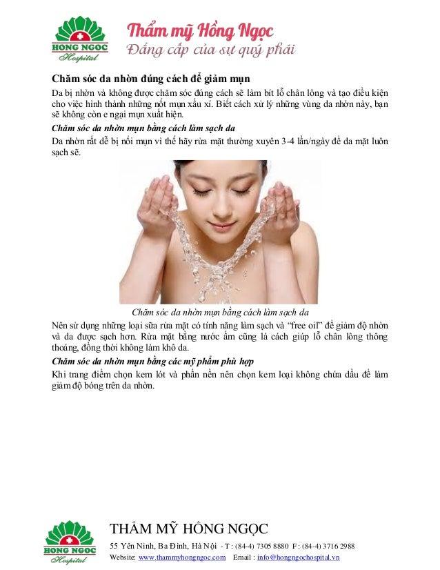 Chăm sóc da nhờn đúng cách để giảm mụn