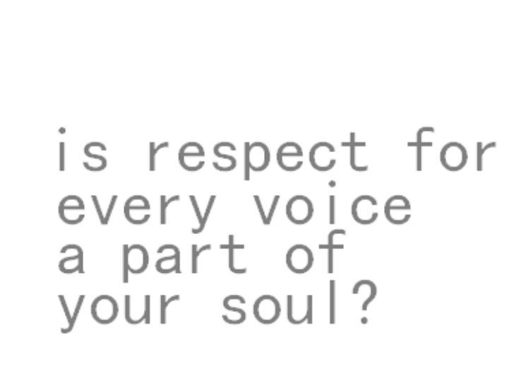 respect for every voice