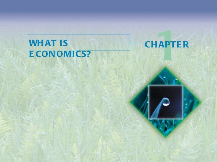 WHAT IS ECONOMICS? 1 CHAPTER