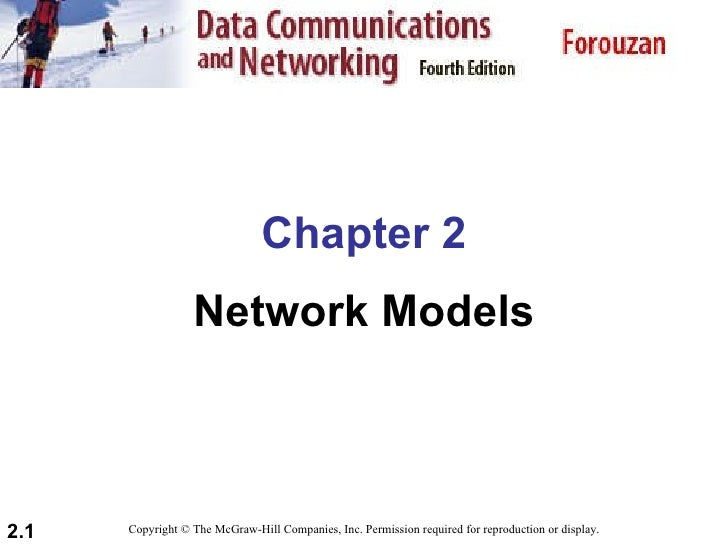 Chapter 2 - Network Models