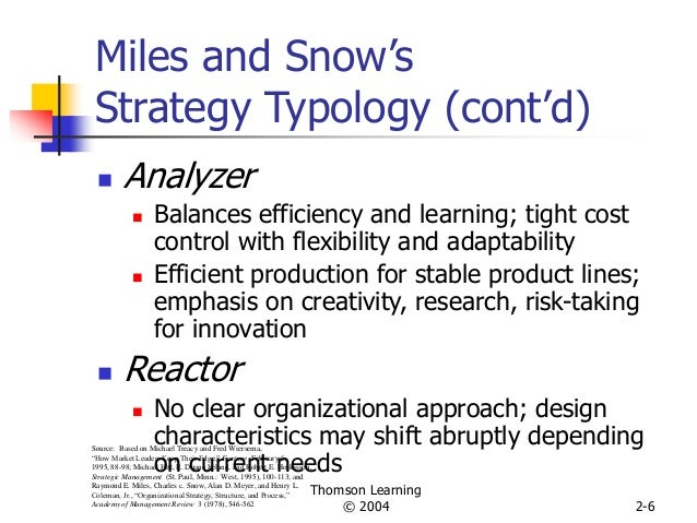 miles and snow generic strategy typology A theoretical framework for aligning project management with business project management with business strategy strategy, eg, miles and snow's typology.