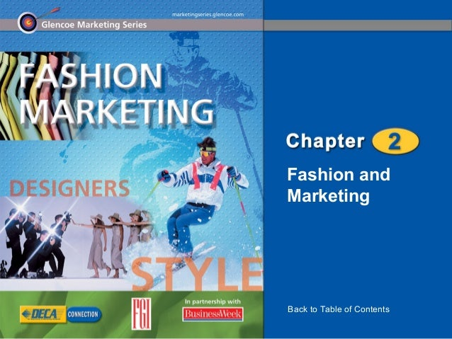 Fashion andMarketingBack to Table of Contents
