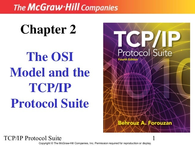 Chapter 2    The OSI  Model and the     TCP/IP  Protocol SuiteTCP/IP Protocol Suite                                       ...