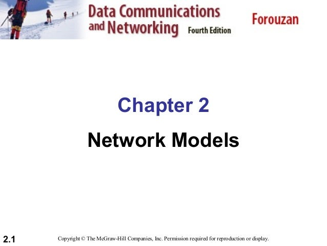 Chapter 2 Network Models  2.1  Copyright © The McGraw-Hill Companies, Inc. Permission required for reproduction or display...