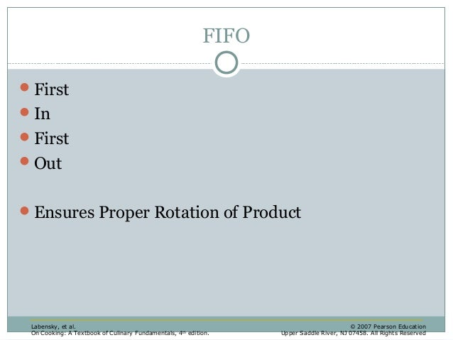 Product Rotation Fifo Proper Rotation of Product