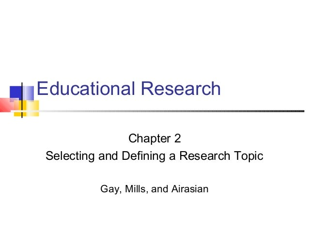 Ch02 topic selection