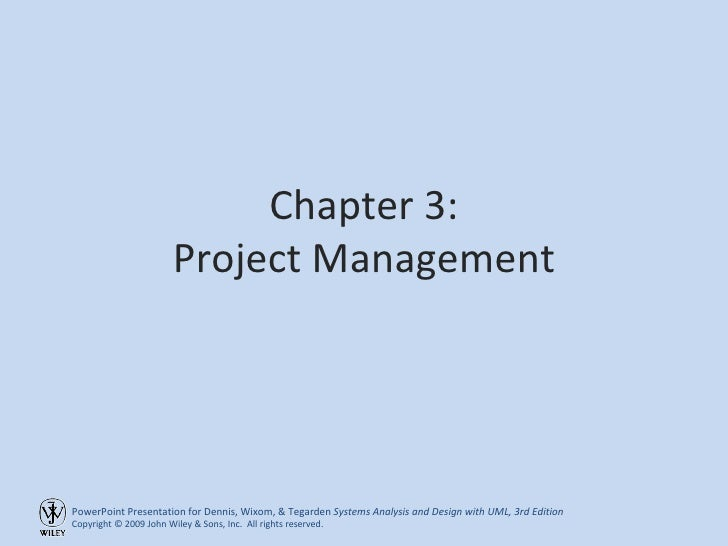 Chapter 3: Project Management