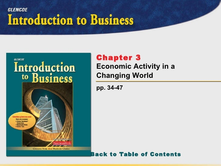 pp. 34-47 Chapter 3   Economic Activity in a Changing World