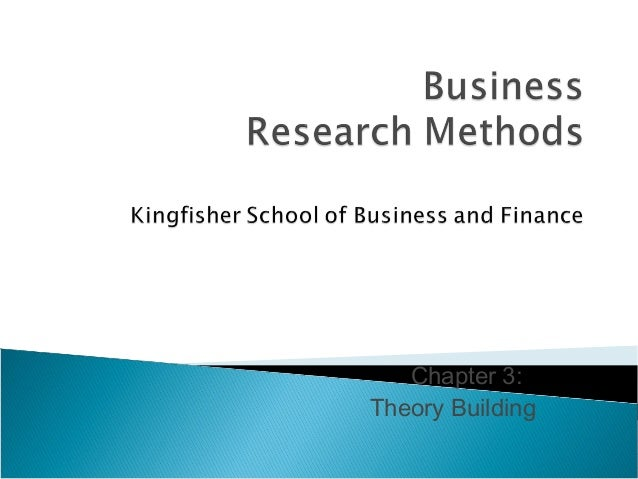 Chapter 3: Theory Building