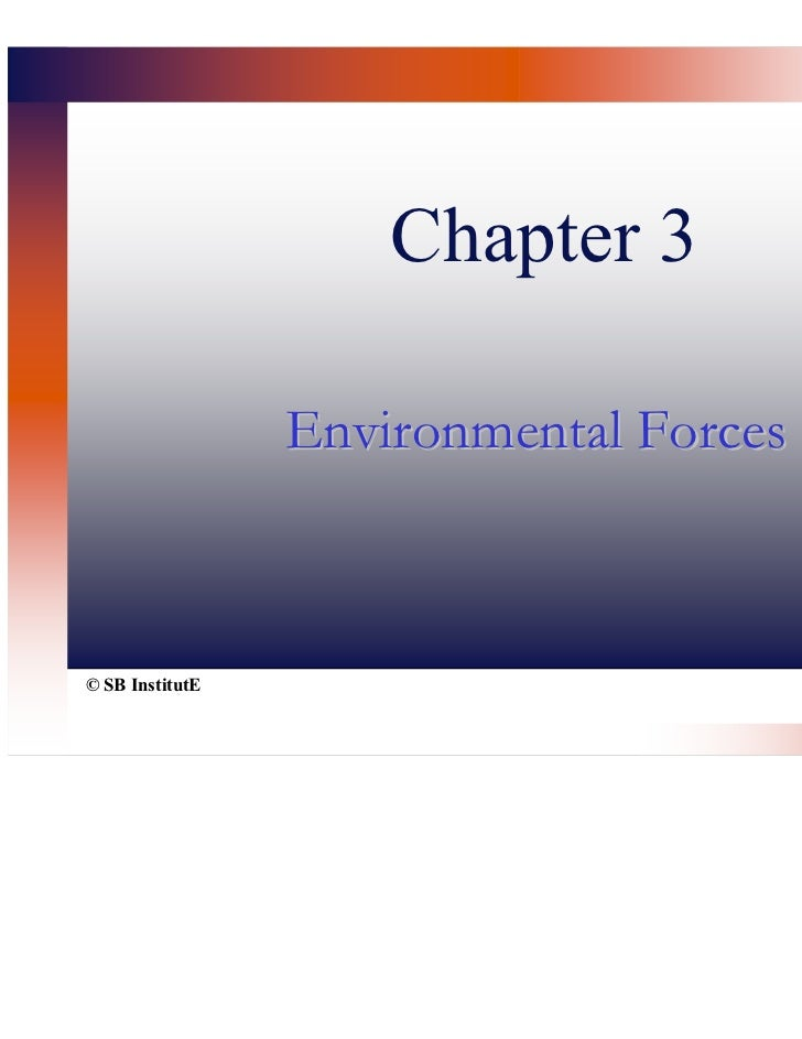 Chapter 3                 Environmental Forces© SB InstitutE
