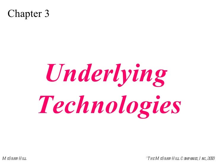 Chapter 3 Underlying  Technologies