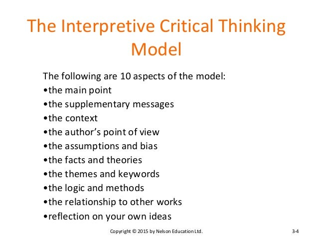 critical thinking includes the following Objective and subjective claims bc home cas tip sheets critical thinking skills the following are objective claims because they concern factual matters.