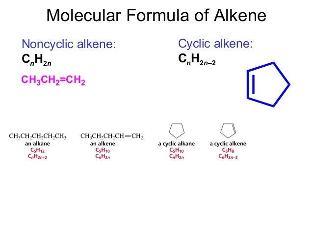 Structural Formula Cnh2n-2 Cnh2n–2 Molecular Formula