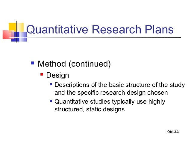 quantitative research study plan essay