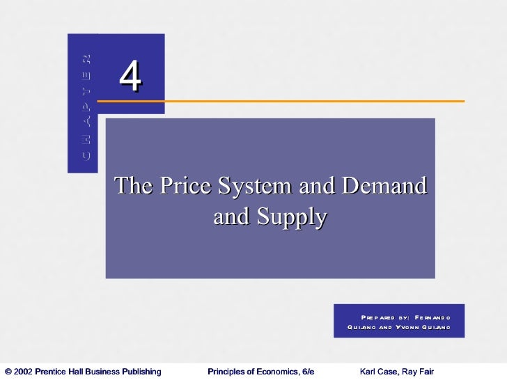 The Price System, Demand and Supply