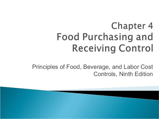 Principles of Food, Beverage, and Labor Cost                       Controls, Ninth Edition