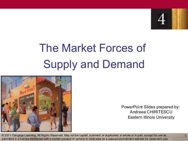 The Market Forces of                              Supply and Demand                                                       ...
